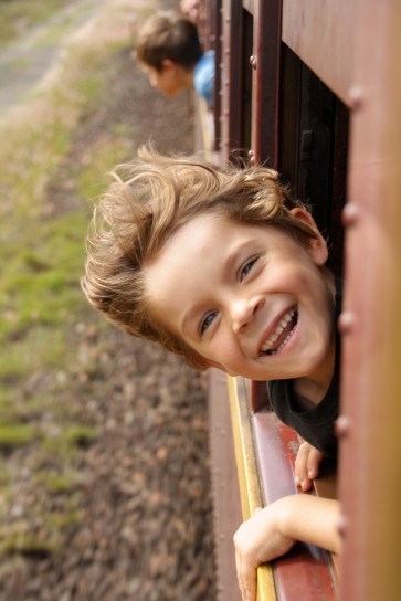 Kid on train (Max)