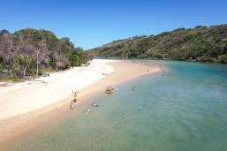 Boambee Creek, dont forget to wave
