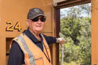Len, one of our volunteer guides